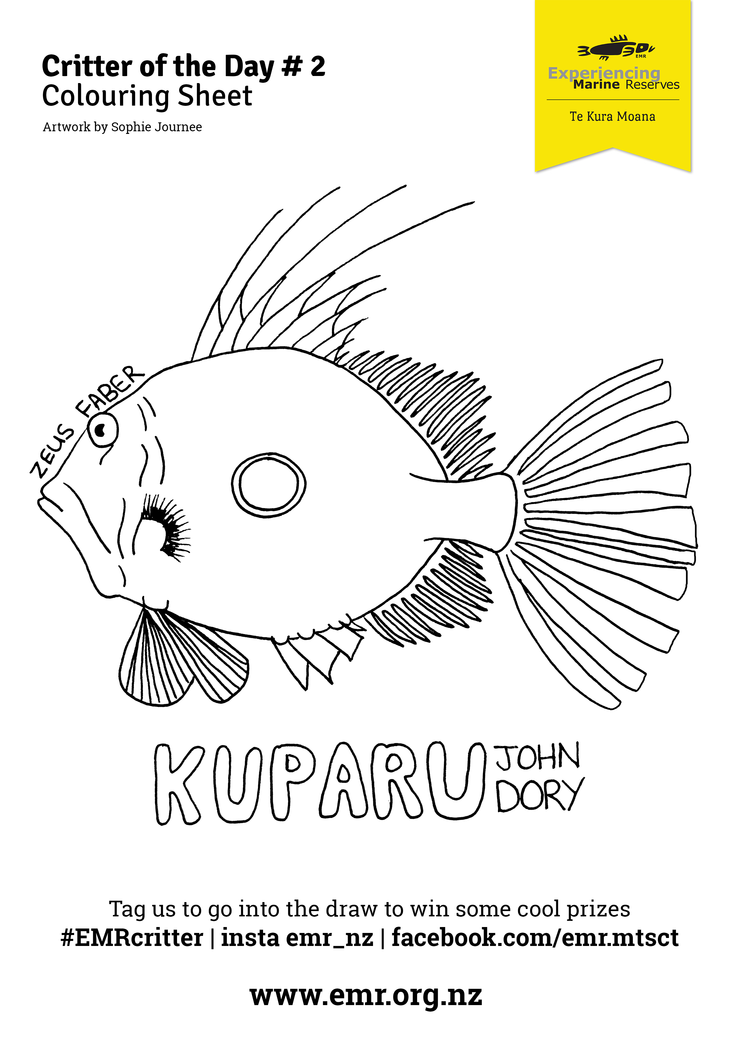 Critter of the Day kuparu Colouring in