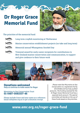 Dr Roger Grace Memorial Fund Web Poster